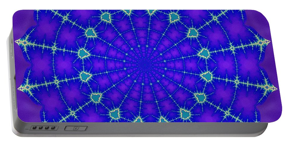 Sacredlife Mandalas Portable Battery Charger featuring the digital art Fractal Gateway Sixteen by Derek Gedney