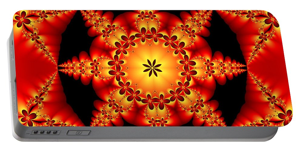 Digital Art Portable Battery Charger featuring the digital art Fractal In The Centre by Gabiw Art