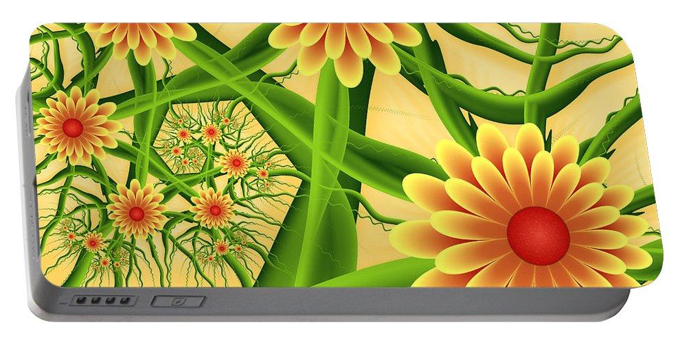 Digital Art Portable Battery Charger featuring the digital art Fractal Summer Pleasures 2 by Gabiw Art