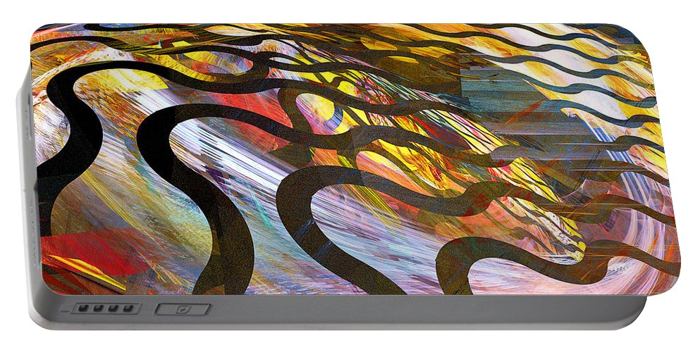 Snake Portable Battery Charger featuring the photograph Fractals - Snake by Susan Savad