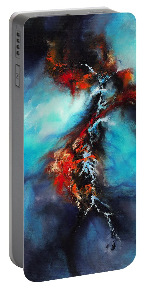 Oil Portable Battery Charger featuring the painting Fracture by Christopher Lyter