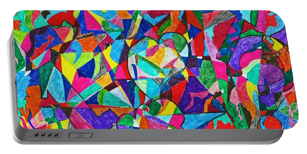 Shapes Portable Battery Charger featuring the photograph Fractured Kaleidoscope by Catherine Melvin