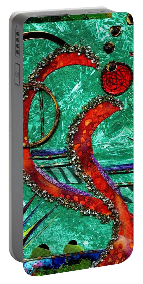 Acrylic Portable Battery Charger featuring the mixed media Fragile by Melanie Hudson