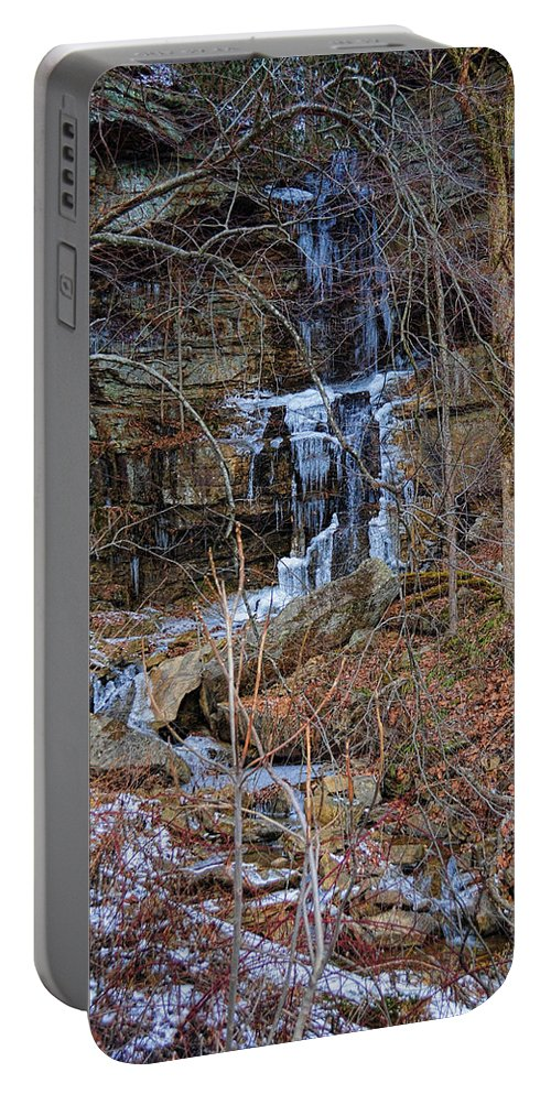 Nature Portable Battery Charger featuring the photograph Fragility Of Ice by Paulette B Wright