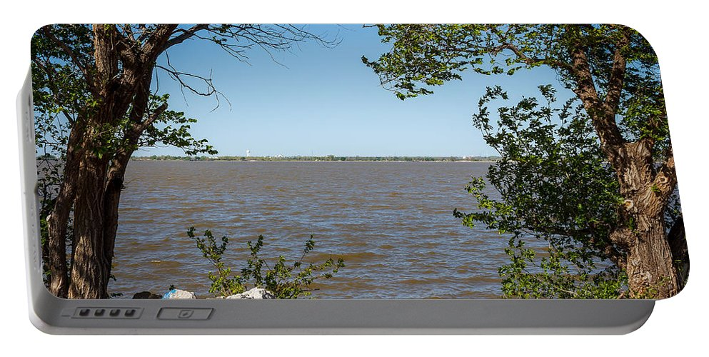 Horizontal Portable Battery Charger featuring the photograph Framed by Doug Long