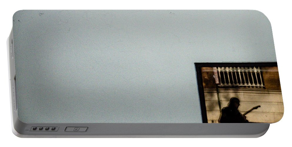 Frame Portable Battery Charger featuring the photograph Framed Musician by Scott Wyatt