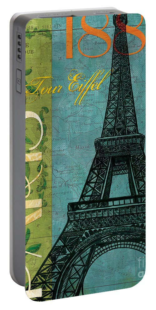 France Portable Battery Charger featuring the painting Francaise 1 by Debbie DeWitt
