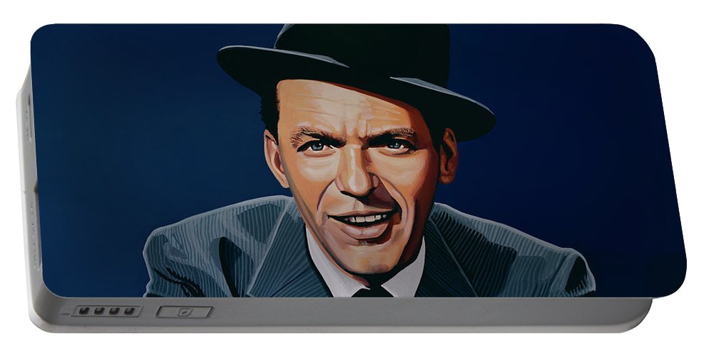 Frank Sinatra Portable Battery Charger featuring the painting Frank Sinatra by Paul Meijering