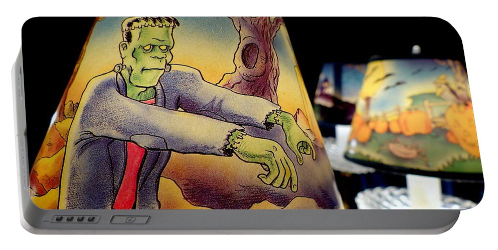 Frankenstein Portable Battery Charger featuring the photograph Franken Shade by Ed Weidman