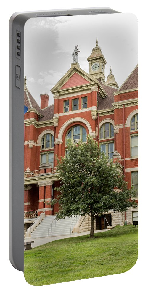 Court Portable Battery Charger featuring the photograph Franklin County Courthouse 2 by Ken Kobe