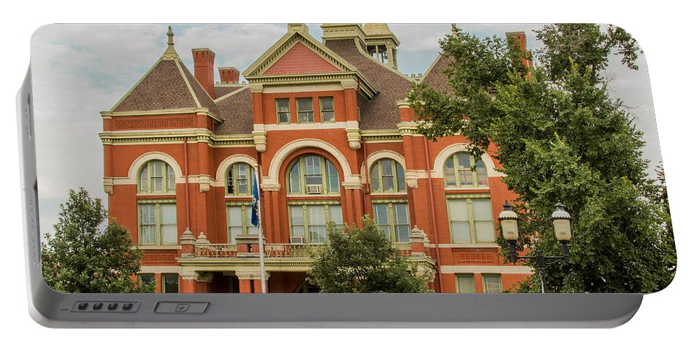 Court Portable Battery Charger featuring the photograph Franklin County Courthouse 4 by Ken Kobe