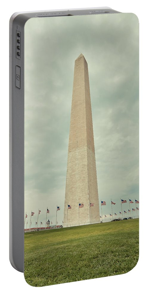 Washington Monument Washington D.c. White House Lincoln Statue Flag America Americana Usa Freedom Taaffe Great Lawn Portable Battery Charger featuring the photograph Freedom by Jimmy Taaffe