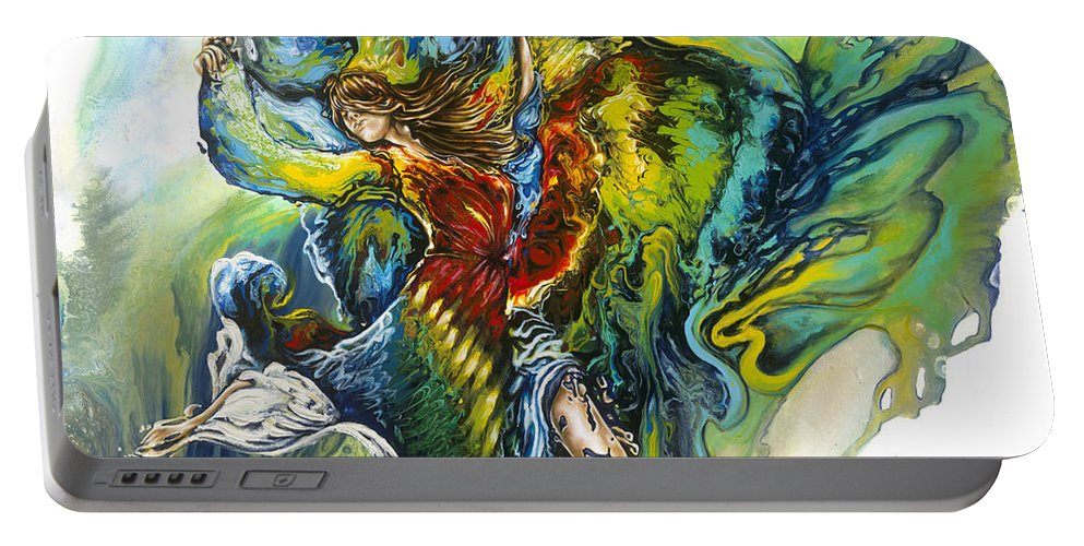 Freedom Portable Battery Charger featuring the painting Freedom by Karina Llergo
