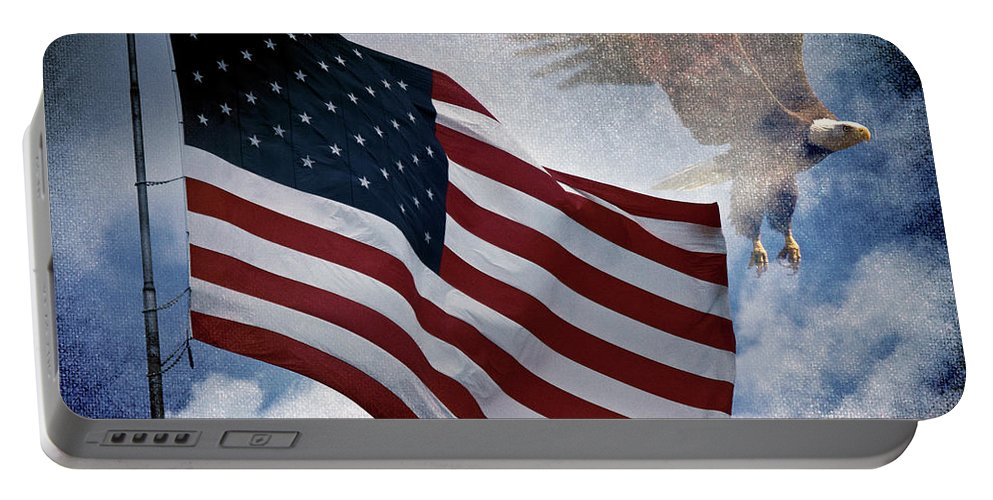 Eagle Portable Battery Charger featuring the photograph Freedom by Scott Pellegrin