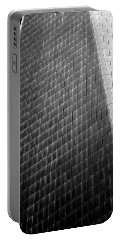 Freedom Tower Portable Battery Charger featuring the photograph Freedom Tower Abstract by Alex Snay