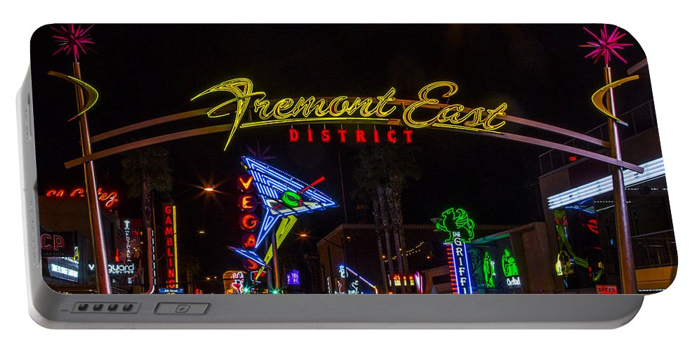 Las Vegas Portable Battery Charger featuring the photograph Fremont Street East by Angus Hooper Iii