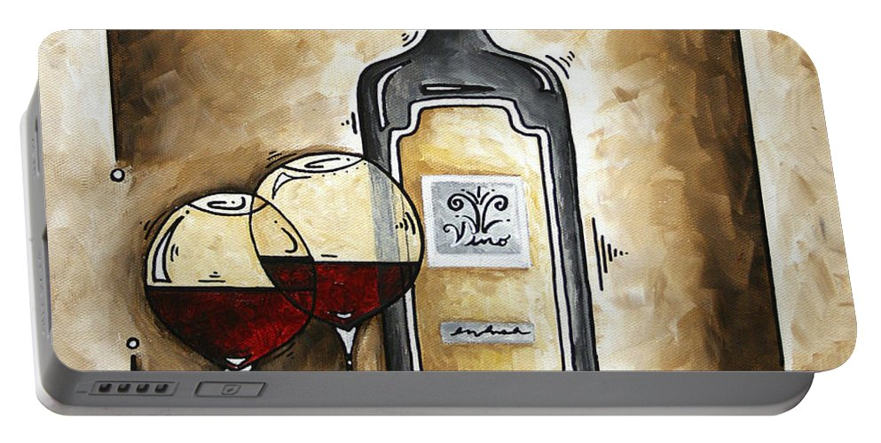 Art Portable Battery Charger featuring the painting French Bordeaux Original Madart Painting by Megan Duncanson