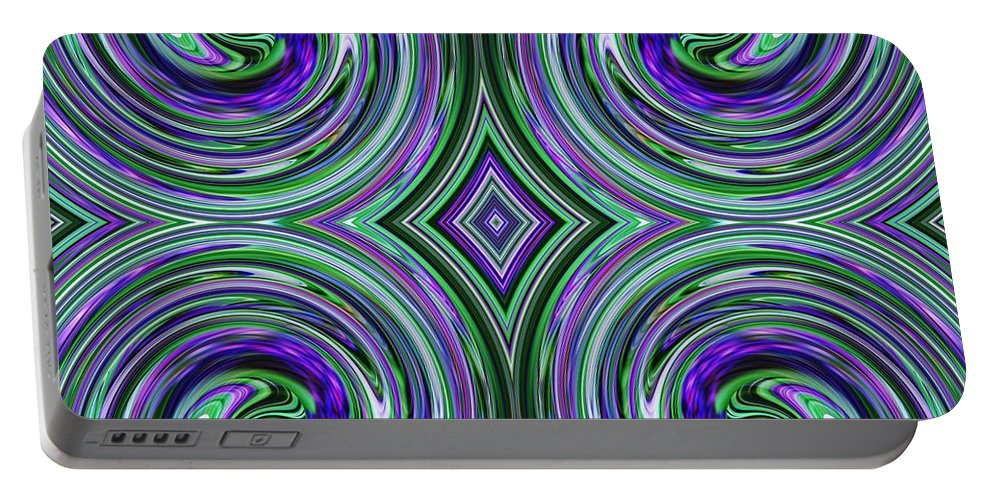 Spring Portable Battery Charger featuring the digital art French Garden by Sarah Loft