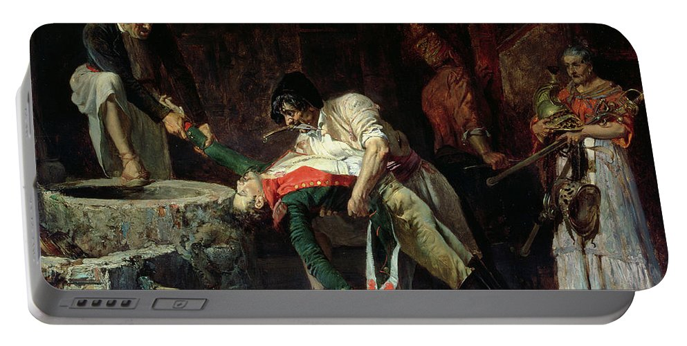 Spain 1812 - French Occupation Portable Battery Charger featuring the painting French Occupation by Eduardo Zamacios y Zabala