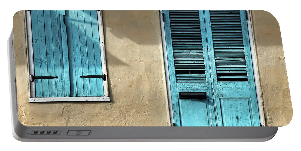 French Quarter Portable Battery Charger featuring the photograph French Quarter Blues by Dominic Piperata