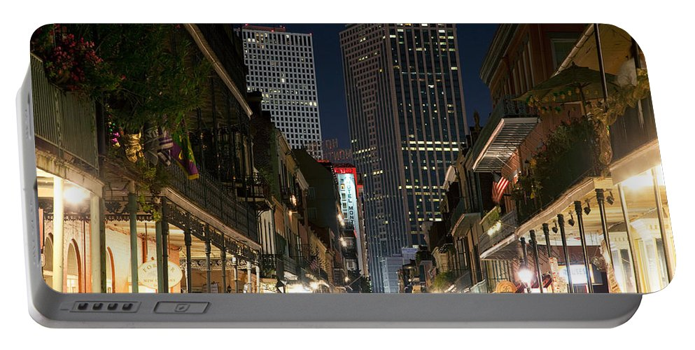 New Orleans Portable Battery Charger featuring the photograph French Quarter New Orleans Louisiana by Bill Cobb