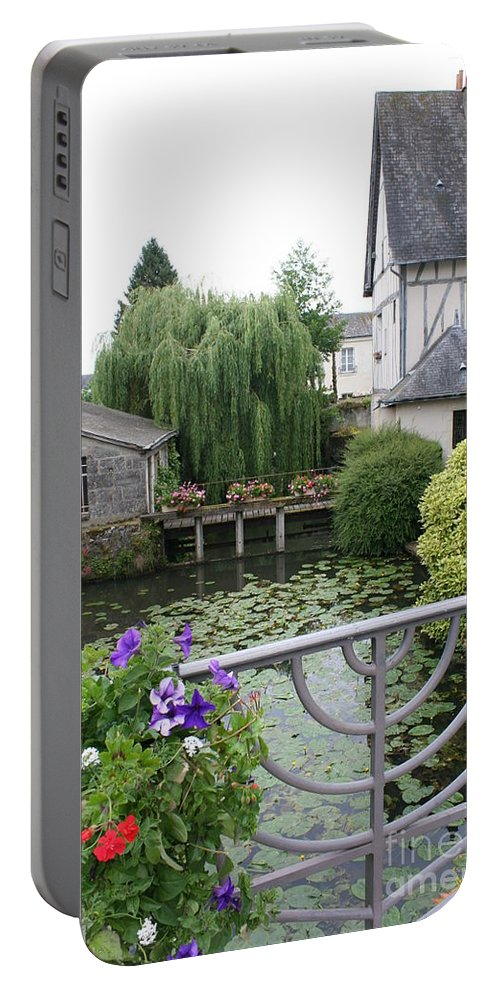 Village Portable Battery Charger featuring the photograph French Village by Christiane Schulze Art And Photography