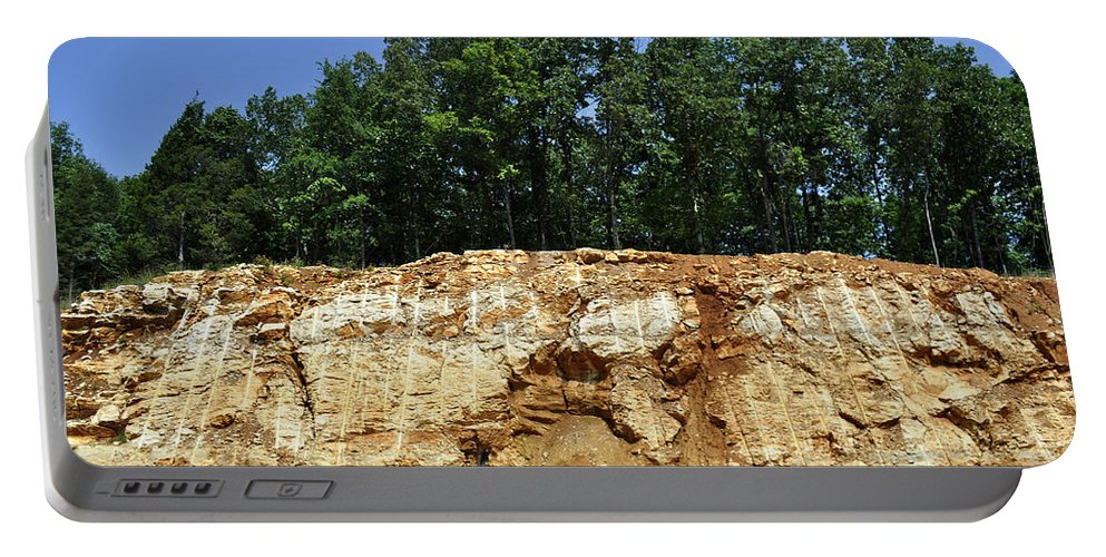Mountains Portable Battery Charger featuring the photograph Fresh Cut Mountain by Verana Stark