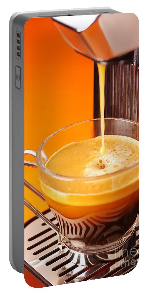 Appliance Portable Battery Charger featuring the photograph Fresh Espresso by Carlos Caetano