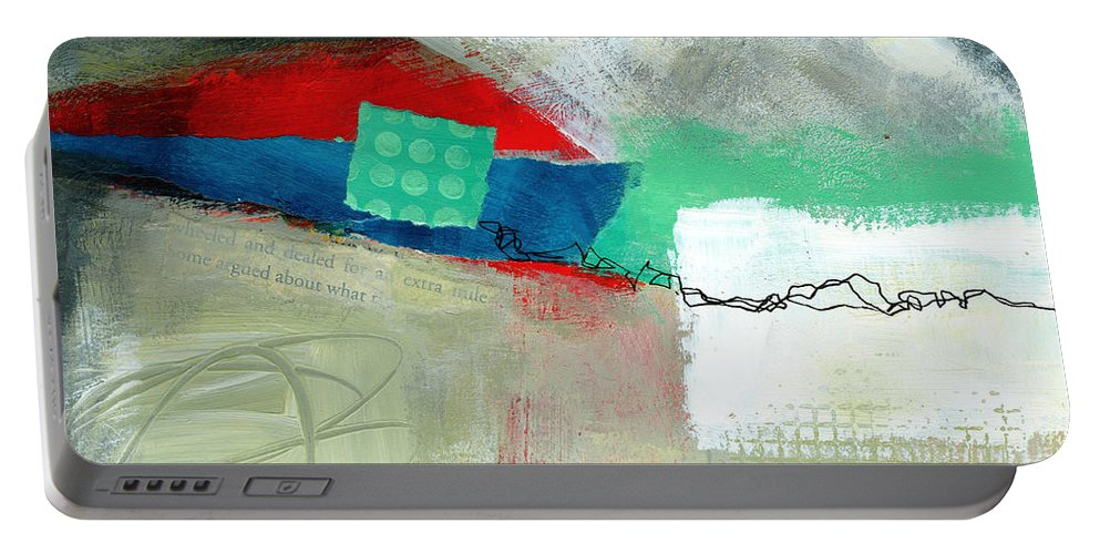 8�x8� Portable Battery Charger featuring the painting Fresh Paint #1 by Jane Davies