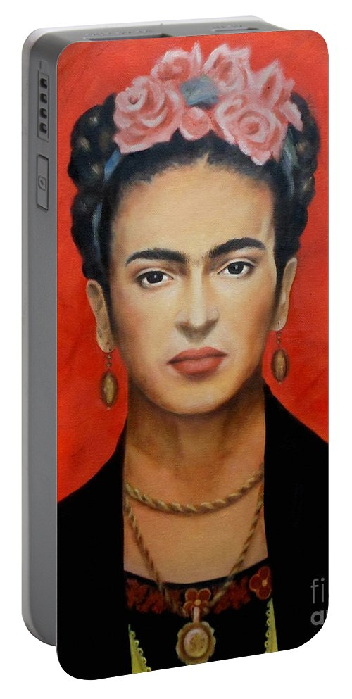 Frida Portable Battery Charger featuring the painting Frida Kahlo by Yelena Day