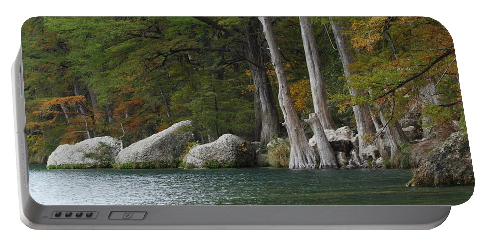 Fall Portable Battery Charger featuring the photograph Frio River 2 by Andrew McInnes