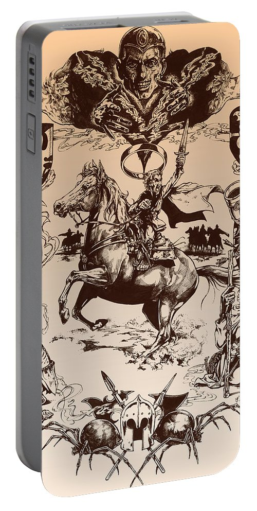 Tolkien Portable Battery Charger featuring the drawing frodo- Tolkien appreciation by Derrick Higgins