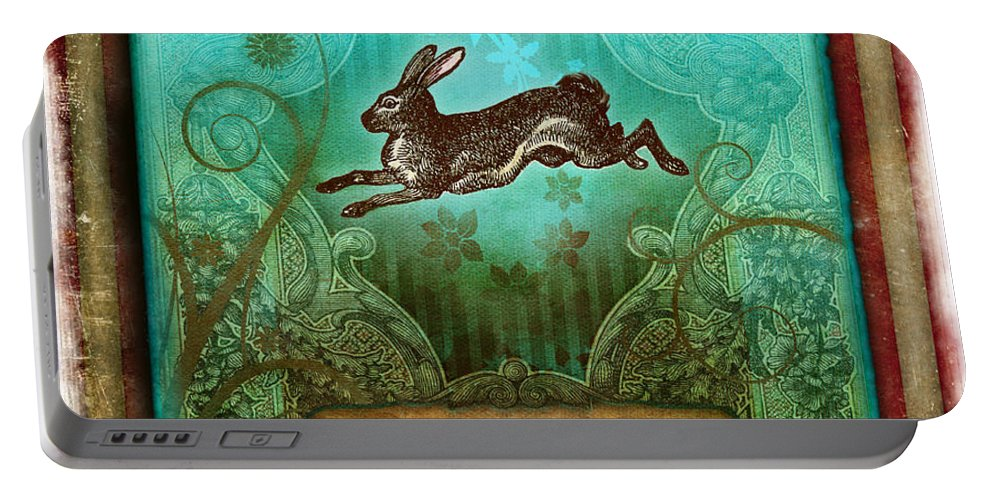 Andrew Farley Portable Battery Charger featuring the digital art Frolic by Aimee Stewart