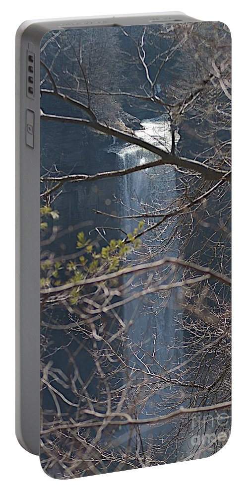 Falls Portable Battery Charger featuring the photograph From A Height by Joseph Yarbrough