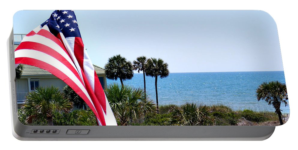 Beach Portable Battery Charger featuring the photograph From Sea To Shining Sea by Sylvia Thornton