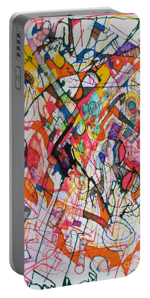 Torah Portable Battery Charger featuring the drawing Elul 6 by David Baruch Wolk