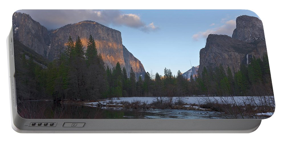 Yosemite Portable Battery Charger featuring the photograph From Valley View At Sunset by Mike Herdering