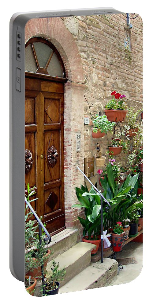 Front Door Portable Battery Charger featuring the photograph Front Door by Ellen Henneke