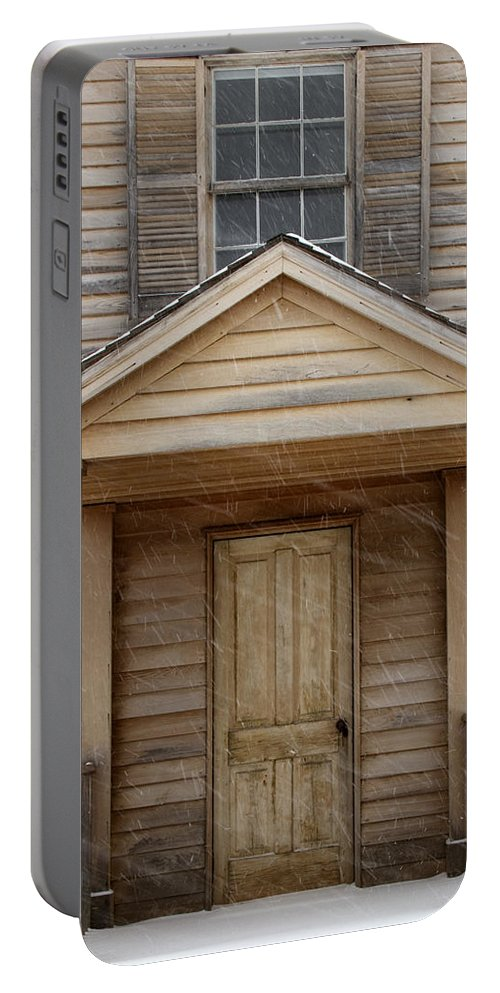Card Portable Battery Charger featuring the photograph Front Door by Guy Shultz