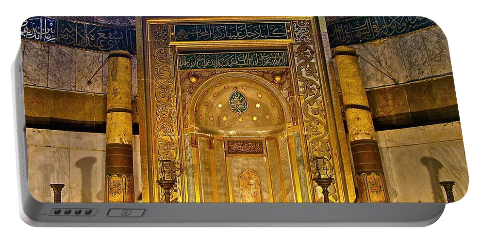 Front Of Saint Sophia's Museum In Istanbul Portable Battery Charger featuring the photograph Front Of Saint Sophia's Museum In Istanbul-turkey by Ruth Hager