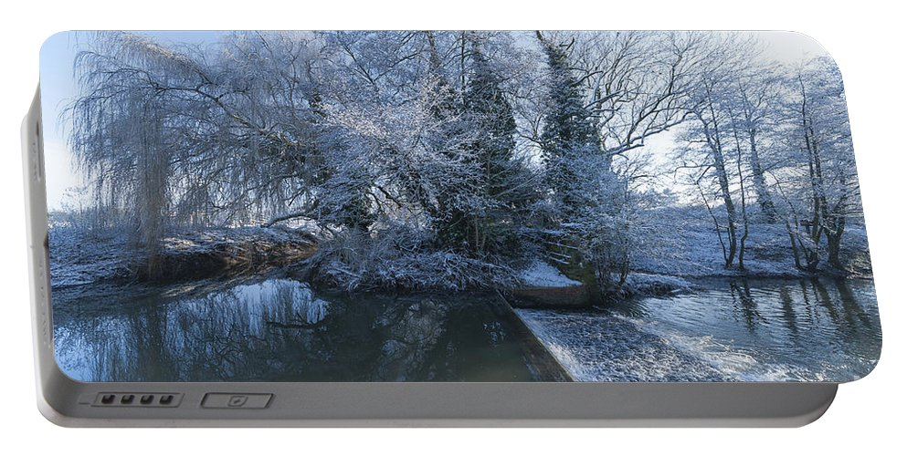 Birds Portable Battery Charger featuring the photograph Frozen Iseland by Svetlana Sewell