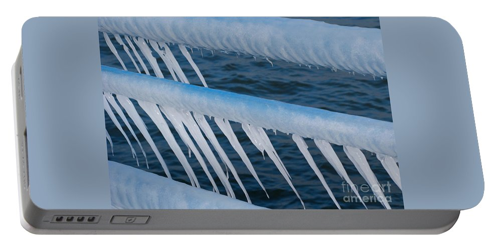 Icicles Portable Battery Charger featuring the photograph Frozen Stiff by Ann Horn
