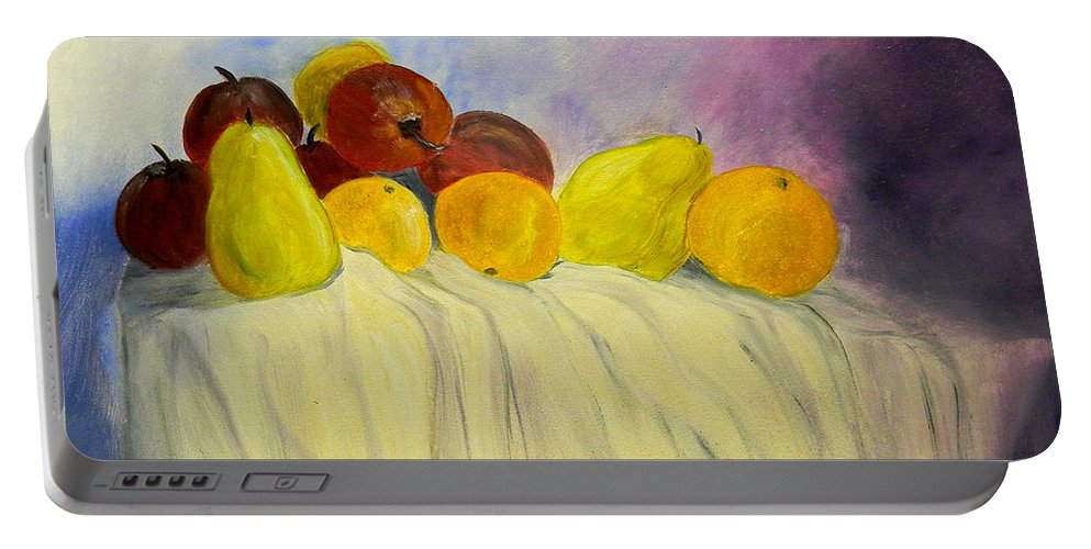Fruit Portable Battery Charger featuring the painting Fruit by Bertie Edwards