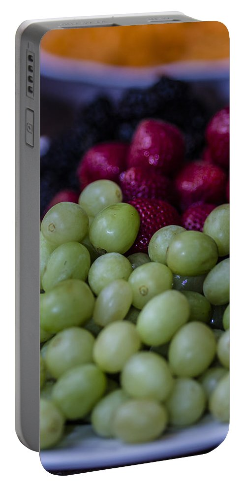 Strawberries Portable Battery Charger featuring the photograph Fruit Mixer by Stephen Brown