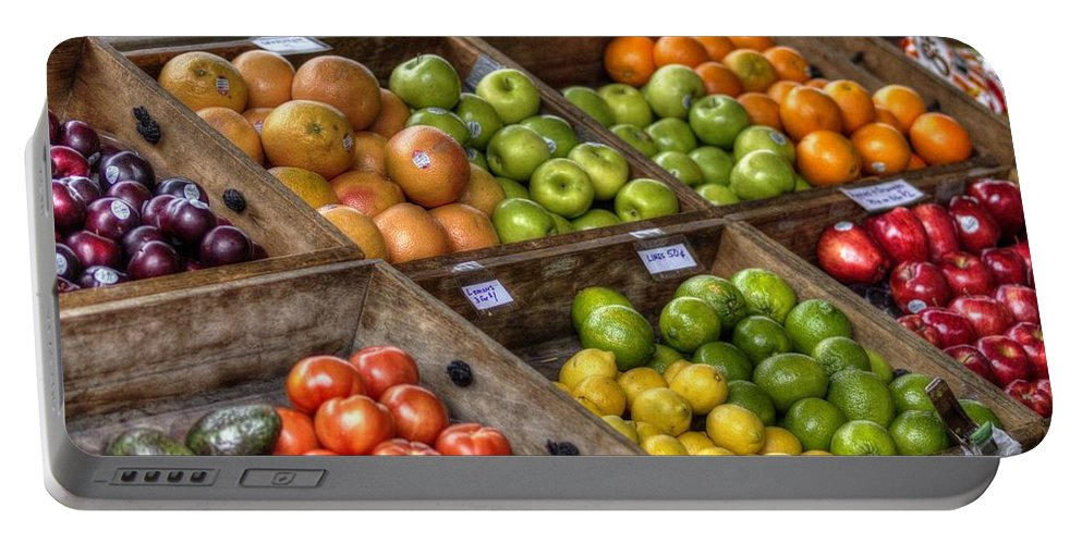 New Orleans Portable Battery Charger featuring the photograph Fruit Stand by William Morgan