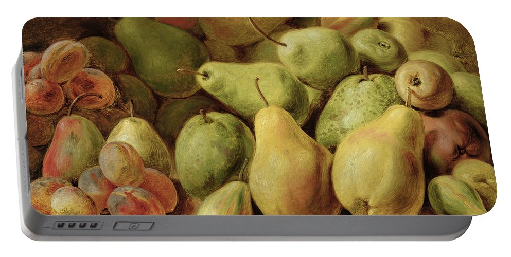 Fruchtstuck Portable Battery Charger featuring the painting Fruit Still Life by Johann Friedrich August Tischbein