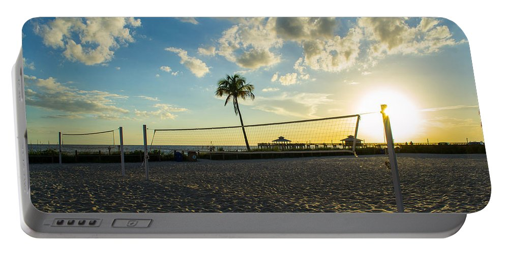 Volleyball Portable Battery Charger featuring the photograph Ft. Myers Volleyball by Shannon Harrington