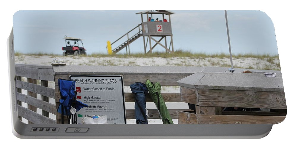 Ft.walton Beach Portable Battery Charger featuring the photograph Full Day At The Beach by Michelle Powell