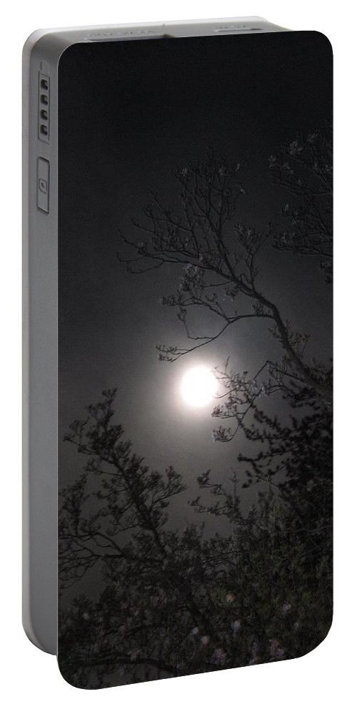 Moon Portable Battery Charger featuring the photograph Full Pink Moon by Glenn Scano