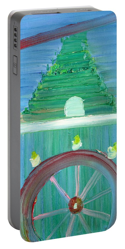 Funfair Portable Battery Charger featuring the painting Funfair by Fabrizio Cassetta